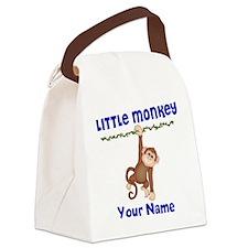 Monkey Boy Kids Personalized Canvas Lunch Bag