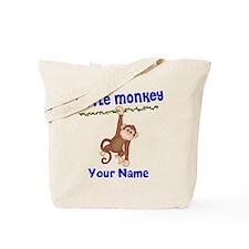 Monkey Boy Kids Personalized Tote Bag