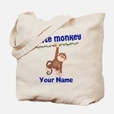 Monkey Boy Kids Personalized Tote Bag