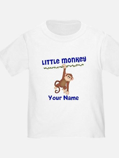 Monkey Boy Kids Personalized T