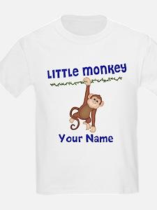 Monkey Boy Kids Personalized T-Shirt