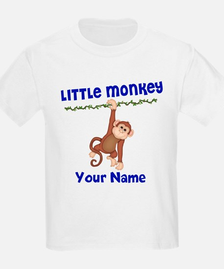 Monkey Boy Kids Personalized T-Shirt