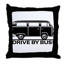Drive by Bus 1 Throw Pillow