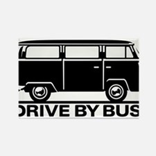 Drive by Bus 1 Rectangle Magnet