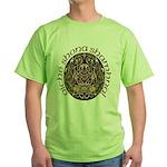 Gaelic Halloween Shield Green T-Shirt