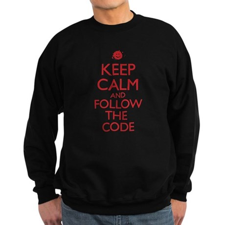 Keep Calm and Follow the Code Sweatshirt (dark)