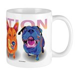 Colorful Dogs Mug
