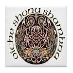 Gaelic Halloween Shield Tile Coaster