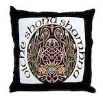 Gaelic Halloween Shield Throw Pillow