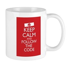 Keep Calm and Follow the Code Mug