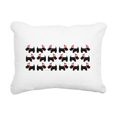 Xmas Scottie Dog Rectangular Canvas Pillow