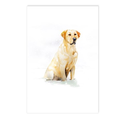 Labrador Retriever & Snowflakes Postcards (Package