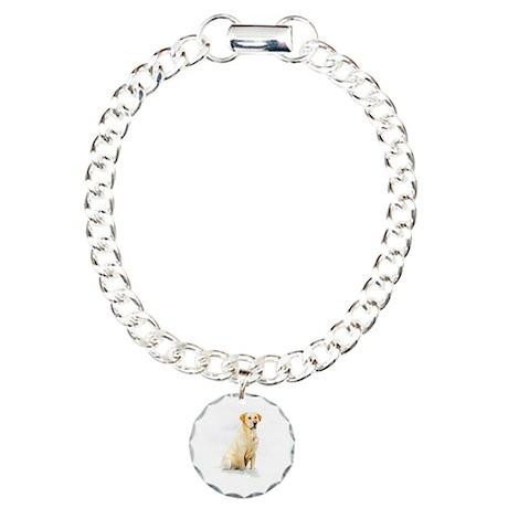 Labrador Retriever & Snowflakes Charm Bracelet, On