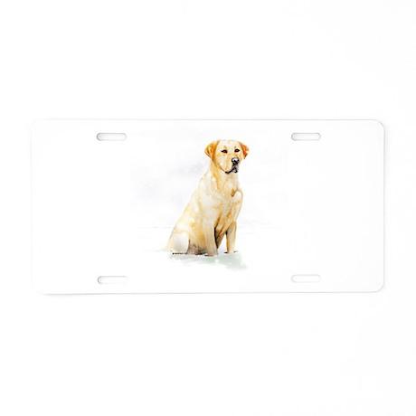 Labrador Retriever & Snowflakes Aluminum License P