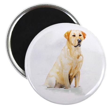 Labrador Retriever & Snowflakes Magnet