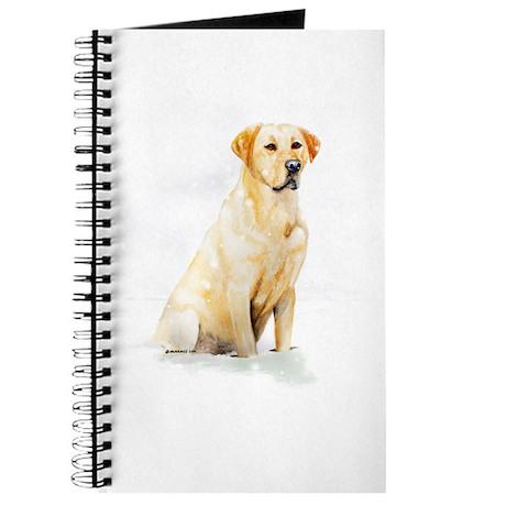 Labrador Retriever & Snowflakes Journal