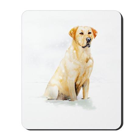 Labrador Retriever & Snowflakes Mousepad
