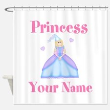 Blond Princess Personalized Shower Curtain