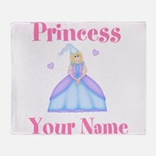 Blond Princess Personalized Throw Blanket