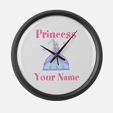 Blond Princess Personalized Large Wall Clock