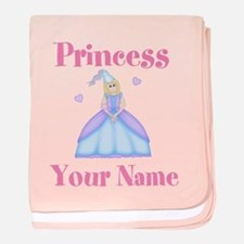 Blond Princess Personalized baby blanket