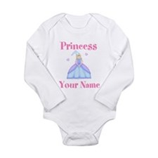 Blond Princess Personalized Long Sleeve Infant Bod