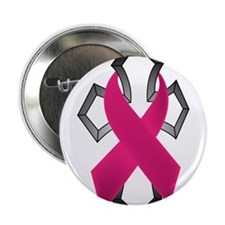 "Breast Cancer Ribbon Wrapped Around Cross 2.25"" Bu"