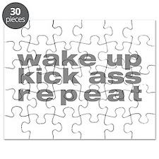 wake up kick ass repeat Puzzle