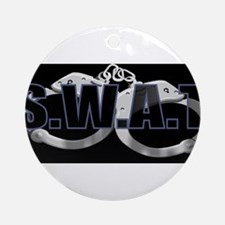 BLACKSWATBLUE.jpg Ornament (Round)