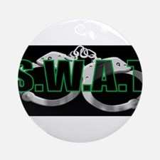 BLACKSWATGREEN.jpg Ornament (Round)