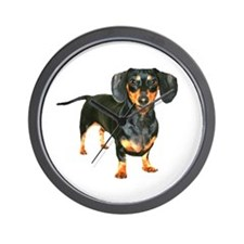 Lily Dachshund Dogs Here Wall Clock