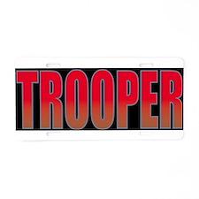 TROOPBLK.jpg Aluminum License Plate