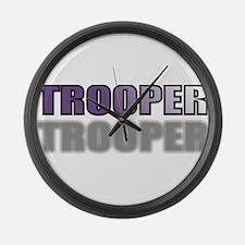 TROOPERPURPLETRANSSHADOW.jpg Large Wall Clock