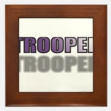 TROOPERPURPLETRANSSHADOW.jpg Framed Tile