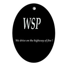 WSP HIGHWAY OF FIRE Oval Ornament