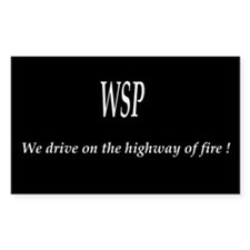 WSP HIGHWAY OF FIRE Rectangle Decal