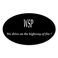 WSP HIGHWAY OF FIRE Oval Decal