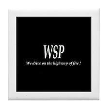WSP HIGHWAY OF FIRE Tile Coaster