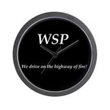 WSP HIGHWAY OF FIRE Wall Clock