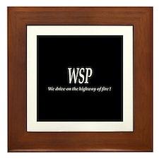 WSP HIGHWAY OF FIRE Framed Tile