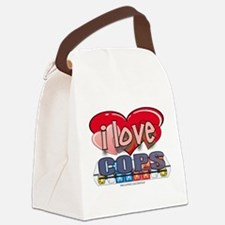 I LOVE COPS Canvas Lunch Bag