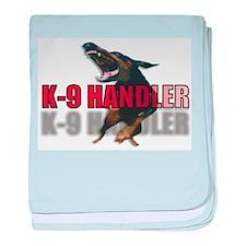 K9HANDLER.jpg baby blanket
