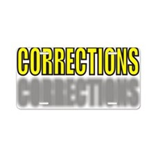 CORRECTIONSYELLOW.jpg Aluminum License Plate