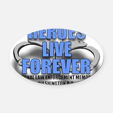 HEROES.jpg Oval Car Magnet