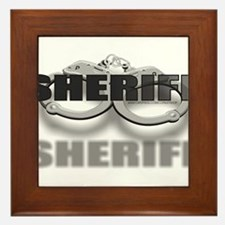CUFFSSHERIFF.jpg Framed Tile