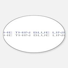 THINBLUELINE.jpg Sticker (Oval)