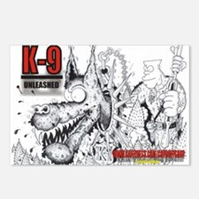 K9 UNLEASHED Postcards (Package of 8)