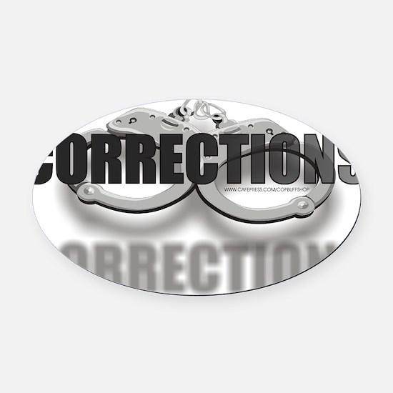 CUFFSCORRECTIONS.jpg Oval Car Magnet