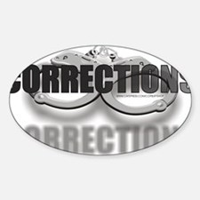 CUFFSCORRECTIONS.jpg Sticker (Oval)