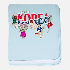 Dance Korea baby blanket